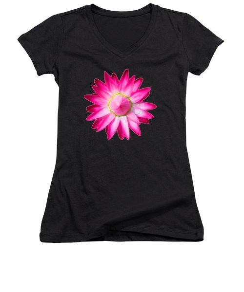 Starflower Opening  Mandala Women's V-Neck T-Shirt