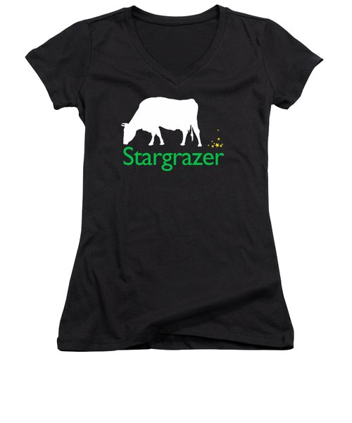Stargrazer Women's V-Neck T-Shirt (Junior Cut) by Jim Pavelle