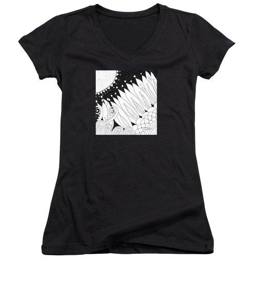 Starry Night Women's V-Neck T-Shirt (Junior Cut) by Lou Belcher