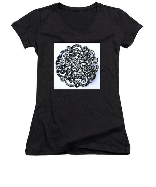 Stars Women's V-Neck T-Shirt (Junior Cut) by Carole Brecht
