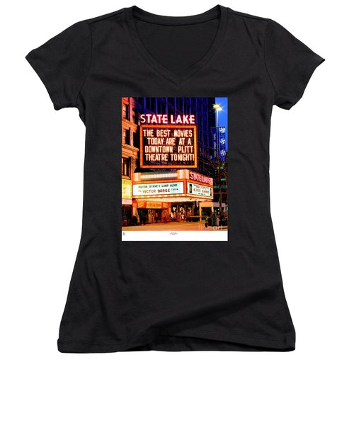State-lake Theater Women's V-Neck