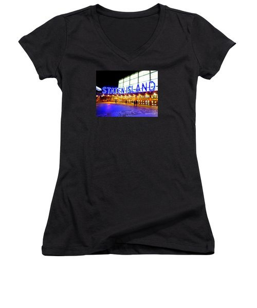 Staten Island Ferry Women's V-Neck T-Shirt