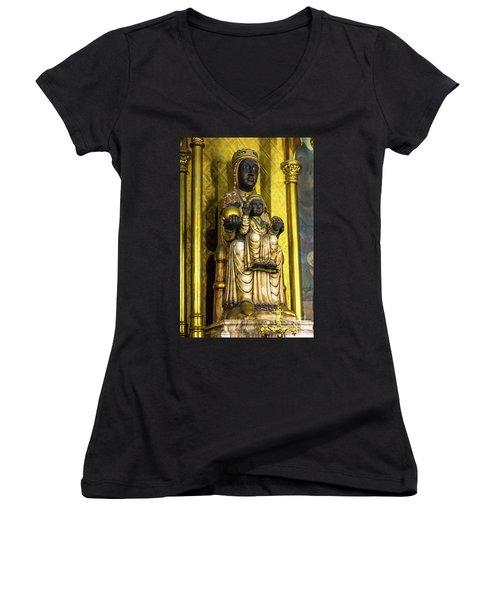 Statue Of The Virgin Mary Women's V-Neck T-Shirt