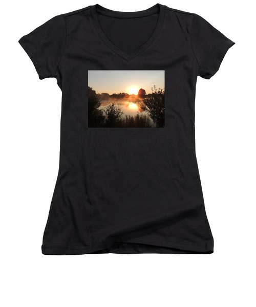 Steamy Morning Women's V-Neck (Athletic Fit)
