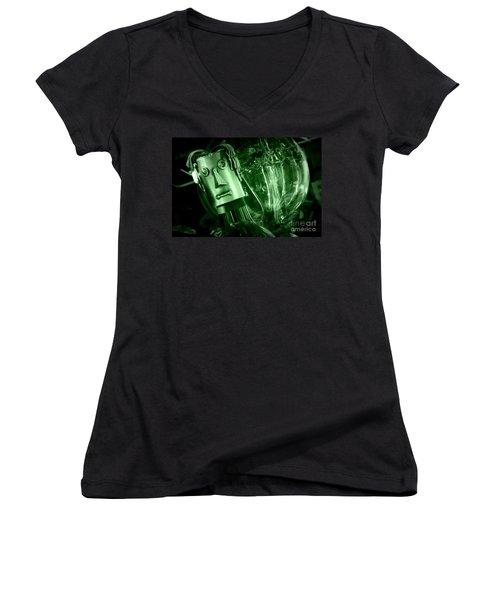 Steel Jelly Women's V-Neck T-Shirt (Junior Cut) by Steven Macanka