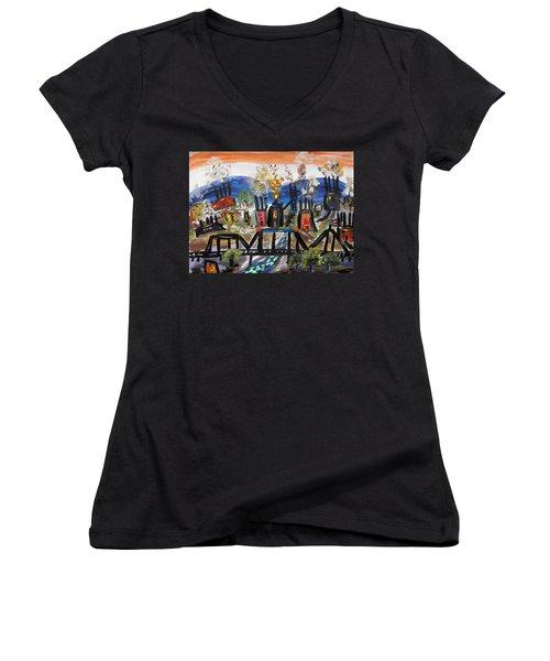 Steeltown U.s.a. Women's V-Neck T-Shirt