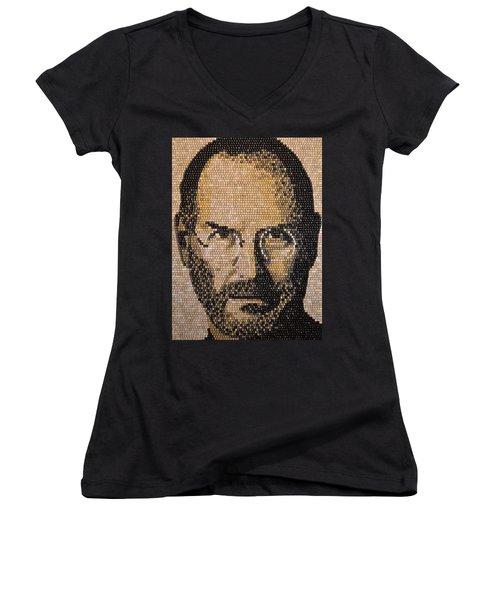 Steve Jobs Women's V-Neck (Athletic Fit)