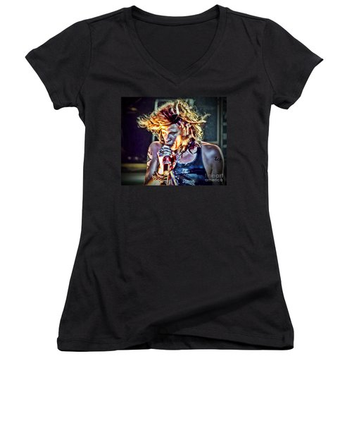 Steven Sings Women's V-Neck (Athletic Fit)