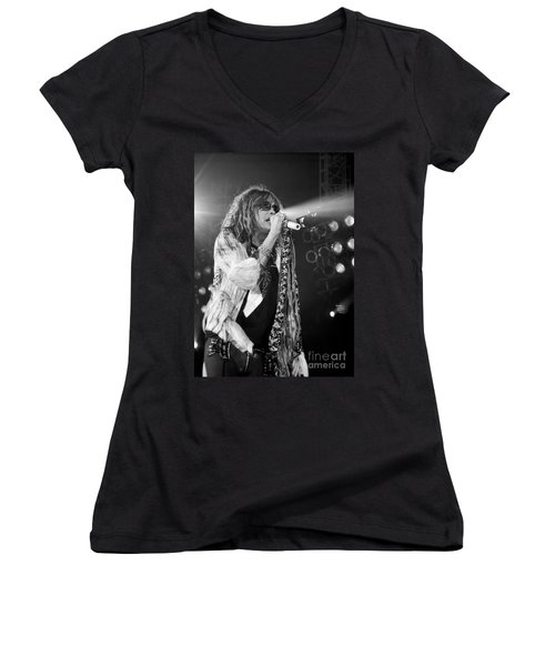 Steven Tyler In Concert Women's V-Neck (Athletic Fit)