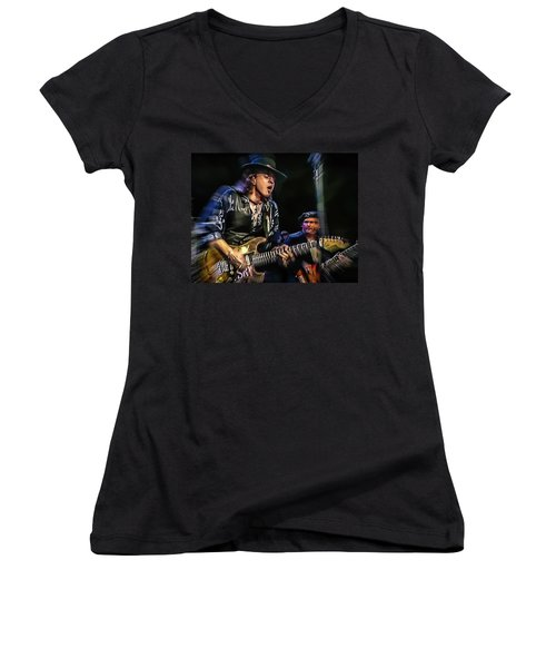 Stevie Ray Vaughan - Couldn't Stand The Weather Women's V-Neck