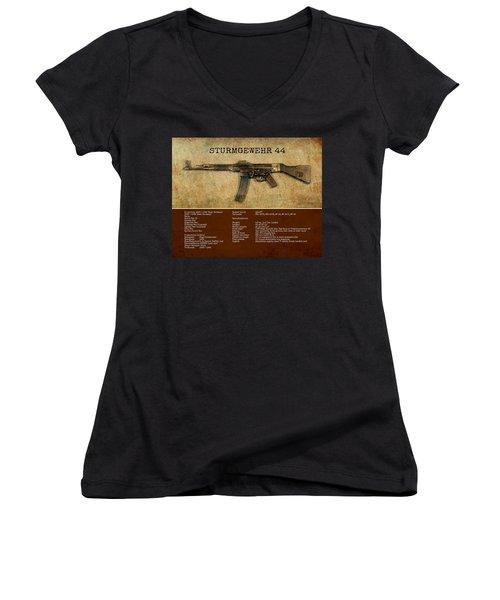 Stg 44 Sturmgewehr 44 Women's V-Neck T-Shirt (Junior Cut) by John Wills