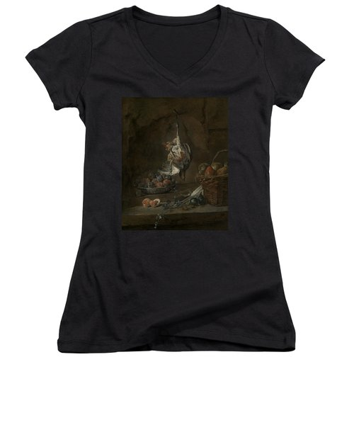 Still Life With Dead Pheasant Women's V-Neck (Athletic Fit)