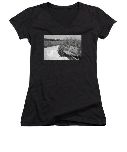 Still Silence Of Nature Women's V-Neck T-Shirt (Junior Cut) by Inspired Arts
