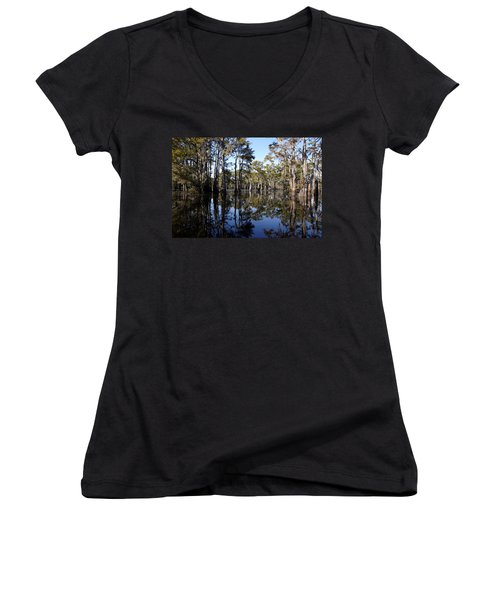 Still Waters Women's V-Neck T-Shirt