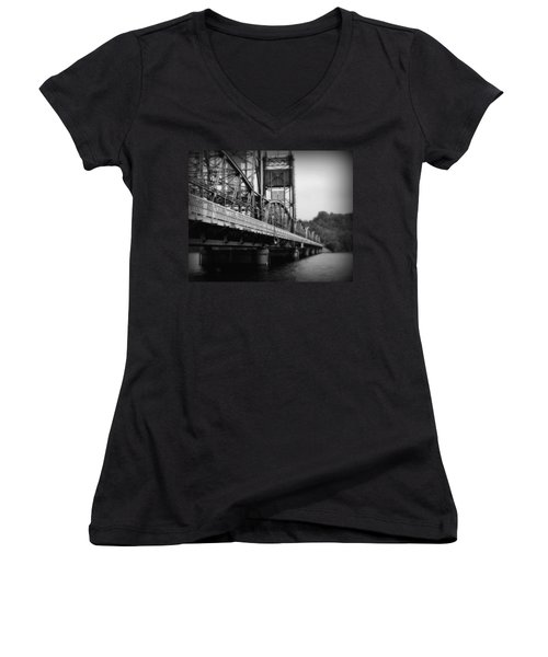 Stillwater Bridge  Women's V-Neck T-Shirt