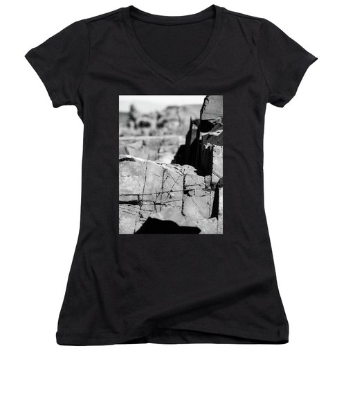 Stone Architecture Women's V-Neck (Athletic Fit)