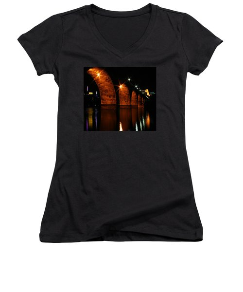 Stonearch Bridge - Minneapolis Women's V-Neck T-Shirt