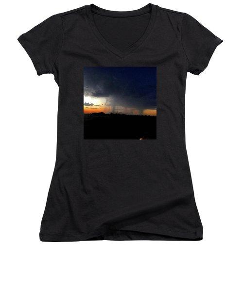 Storm Cloud Women's V-Neck T-Shirt
