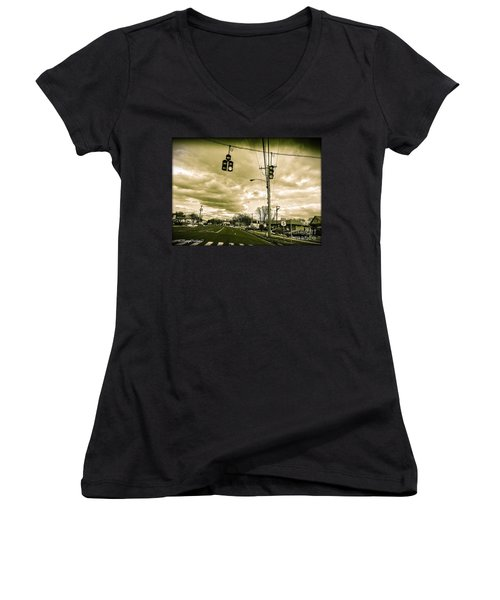 Storm Coming Women's V-Neck