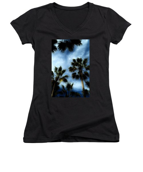 Stormy Palms 2 Women's V-Neck T-Shirt