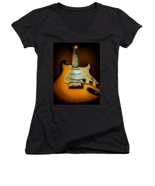 Stratocaster Tobacco Burst Glow Neck Series  Women's V-Neck