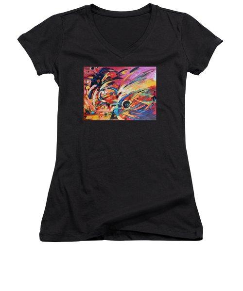 Stravinsky Women's V-Neck T-Shirt (Junior Cut) by Gary Coleman