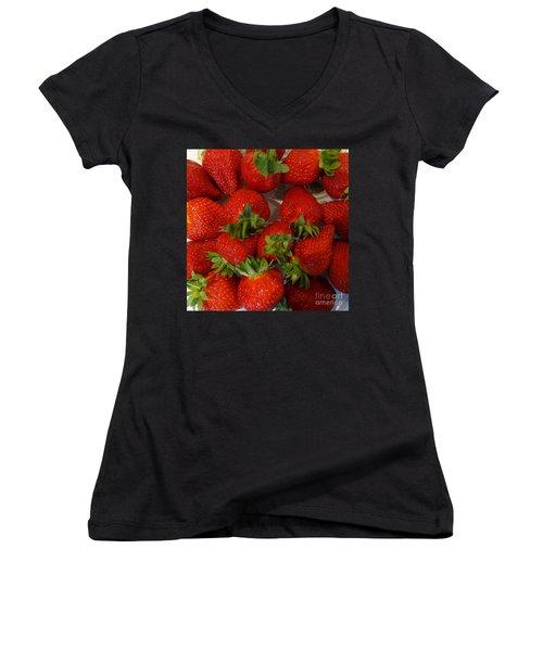 Strawberries Women's V-Neck