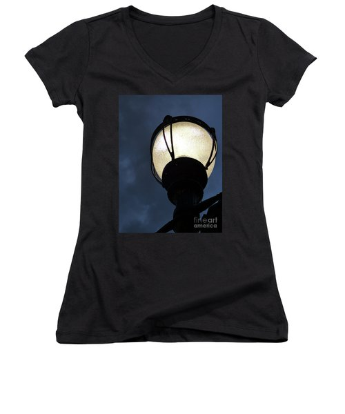 Street Lamp At Night Women's V-Neck (Athletic Fit)
