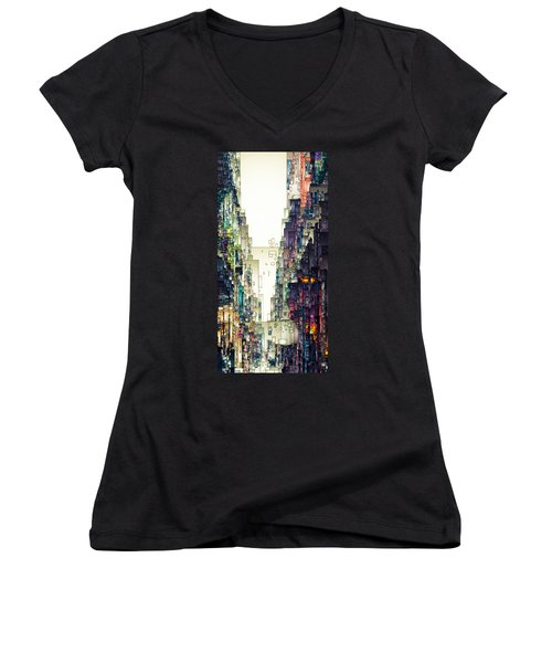 Streetscape 1 Women's V-Neck (Athletic Fit)