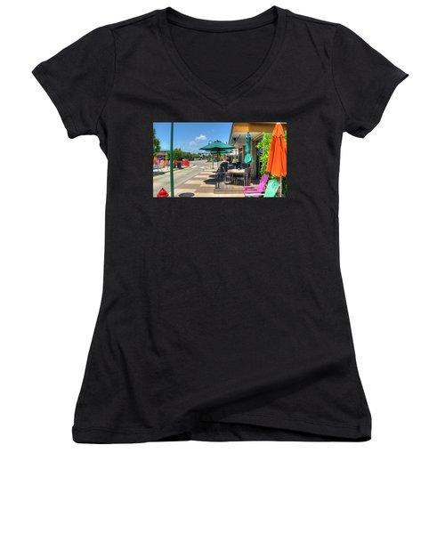 Streetside Dining Women's V-Neck T-Shirt