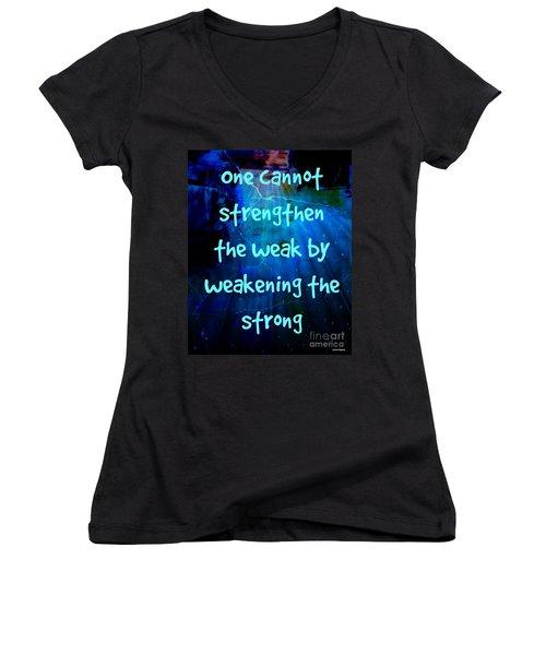 Strength V Weakness Women's V-Neck T-Shirt