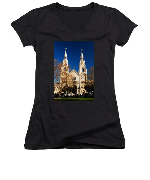 Sts Peter And Paul Women's V-Neck T-Shirt (Junior Cut) by James Kirkikis