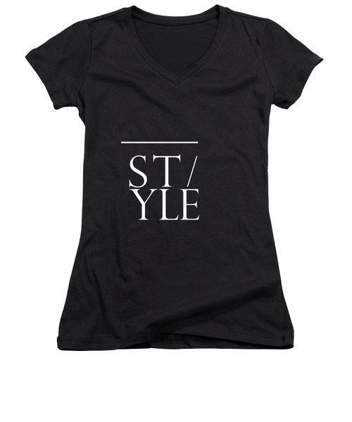 Style 1 - Minimalist Print - Typography - Quote Poster Women's V-Neck