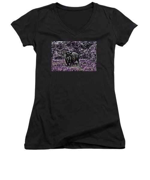 Styled Environment-the Modern Trendy Rhino Women's V-Neck (Athletic Fit)