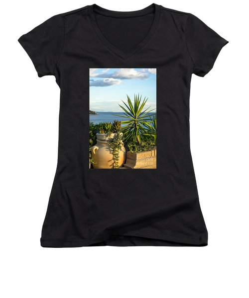 Succulents By The Sea Women's V-Neck