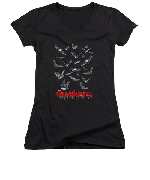 Suckers Women's V-Neck T-Shirt (Junior Cut) by Brian Wallace
