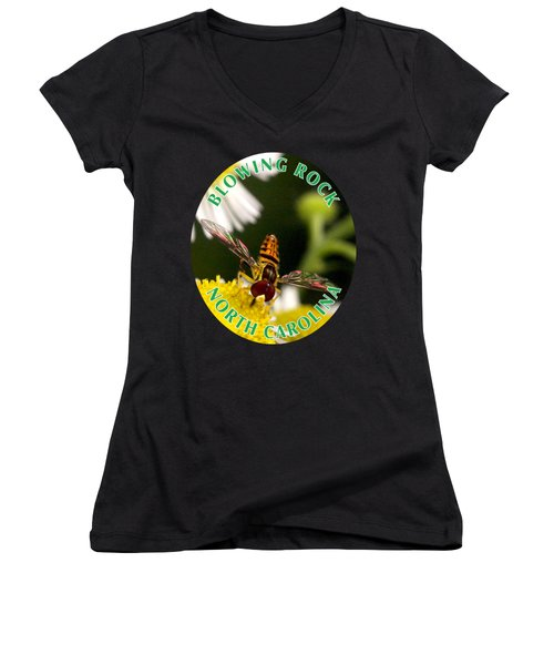 Sugar Bee T-shirt Women's V-Neck (Athletic Fit)