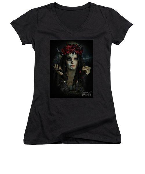 Sugar Doll Magic Women's V-Neck T-Shirt