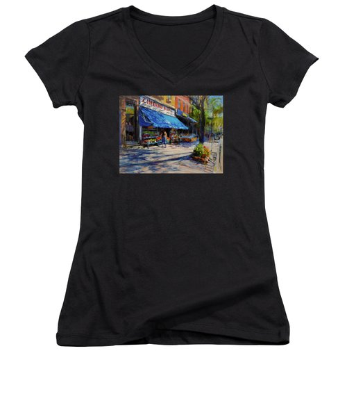 Summer Afternoon, Columbus Avenue Women's V-Neck (Athletic Fit)