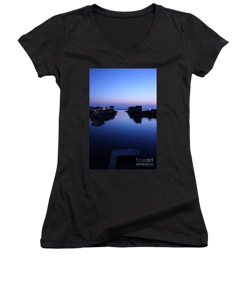 Summer Avon Evening Women's V-Neck T-Shirt (Junior Cut) by Tony Cooper