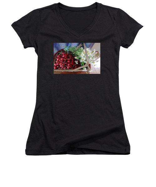 Summer Basket Women's V-Neck T-Shirt