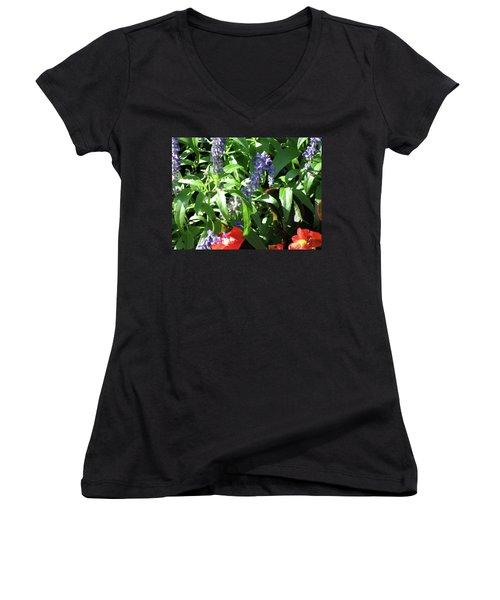Summer Flowers Women's V-Neck T-Shirt