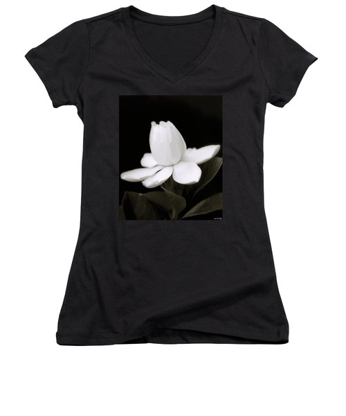 Summer Fragrance Women's V-Neck T-Shirt (Junior Cut) by Holly Kempe