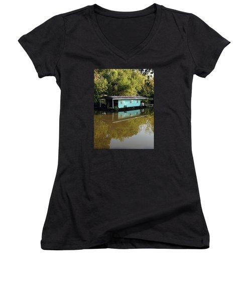 Women's V-Neck T-Shirt (Junior Cut) featuring the photograph Summertime by Helen Haw