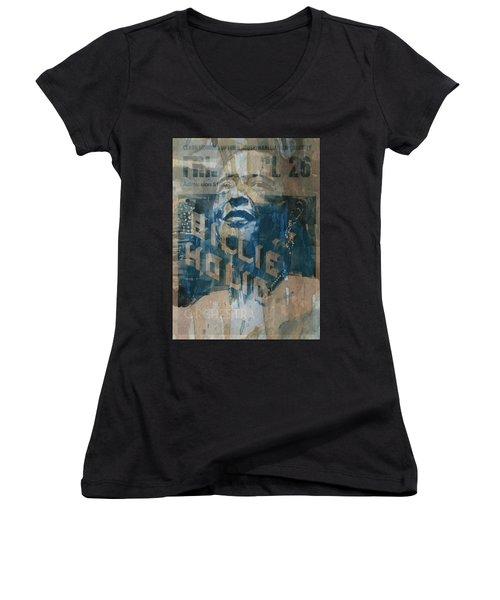 Summertime Women's V-Neck T-Shirt (Junior Cut) by Paul Lovering