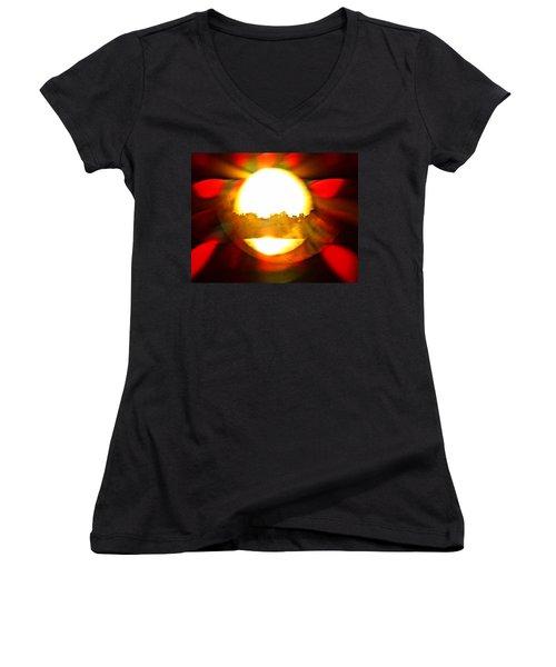 Sun Burst Women's V-Neck