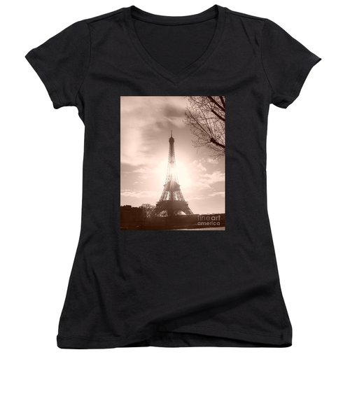 Sun In Paris Women's V-Neck T-Shirt