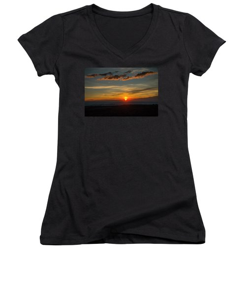 Sun Settling Into The Canyons Women's V-Neck (Athletic Fit)