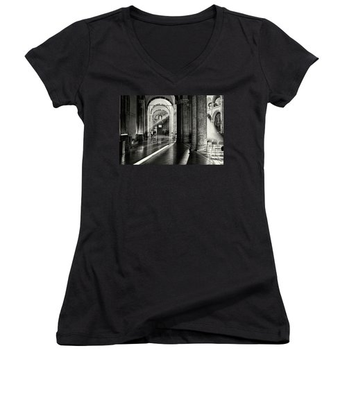 Sunbeam Inside The Church Women's V-Neck