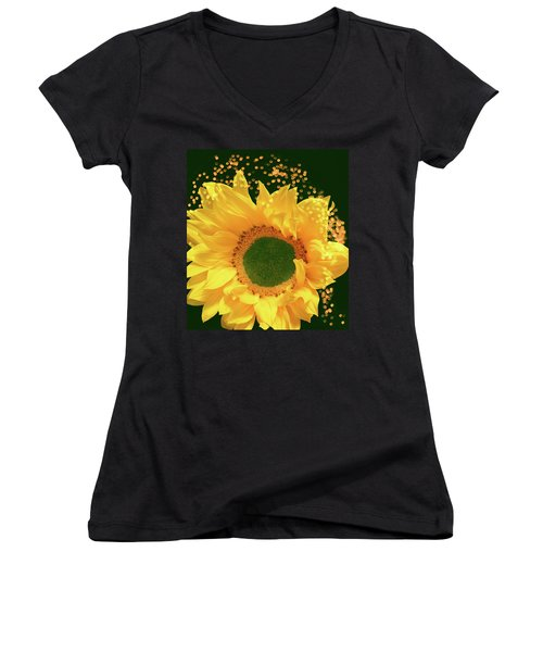 Sunflower Art Women's V-Neck (Athletic Fit)